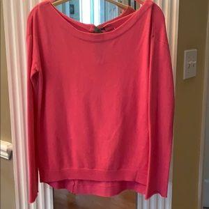 Diane Von Furstenberg Pink Hi-Low Sweater